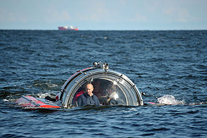 Путин спустился на дно Финского залива