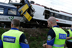 В Швейцарии столкнулись поезда