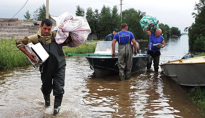 В Приамурье продолжается эвакуация