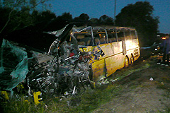 Два автобуса столкнулись под Псковом