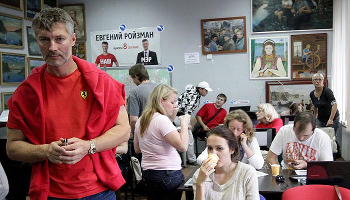 Ройзман побеждает в Екатеринбурге