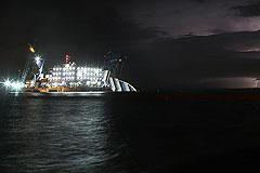 Costa Concordia сняли с рифа