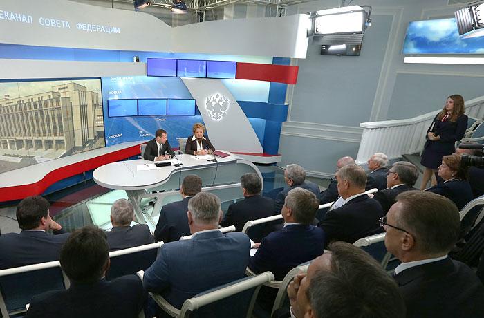 Медведев встретился с руководством Совфеда