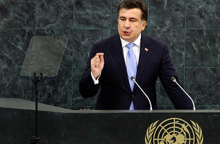 Речь Саакашвили вызвала скандал в ООН