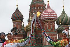 Олимпийская эстафета стартовала в Москве
