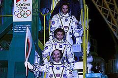 Олимпийский факел улетел в космос