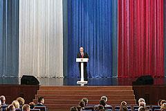Путин напомнил полицейским о законе