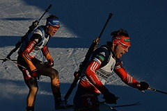 Российские биатлонисты выиграли эстафету в Анси