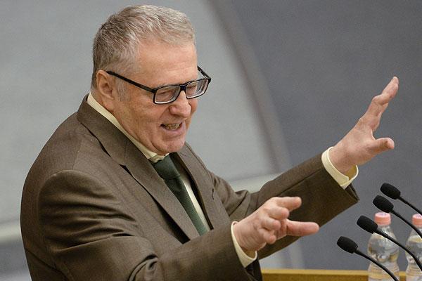 Лидер ЛДПР Владимир Жириновский выступает на пленарном заседании Государственной Думы РФ.