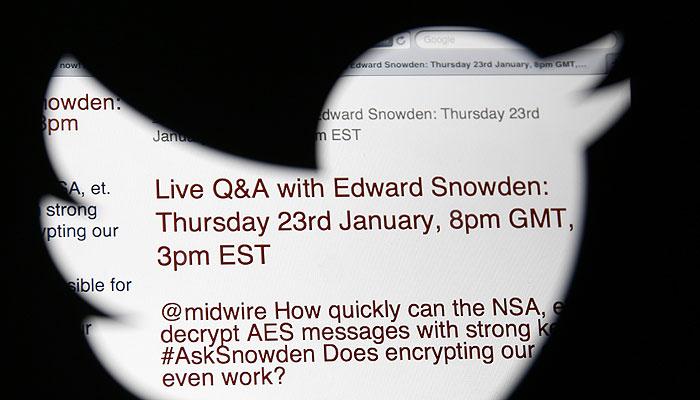Сноуден ответил на вопросы интернет-пользователей