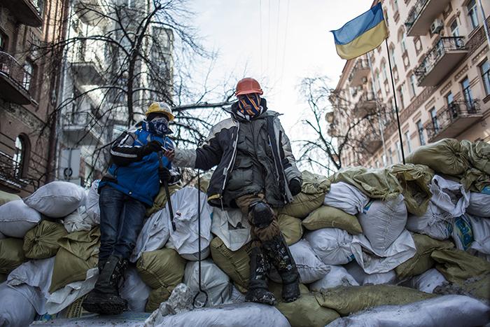 """Активисты """"Спильной справы"""" покинули здание минагропрода в центре Киева"""