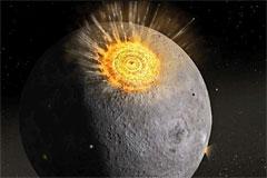 Астрономы зарегистрировали самое сильное столкновение метеорита с Луной