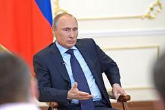 Путин не видит необходимости во вводе российских войск на Украину