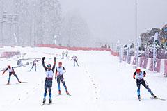 Российские лыжники заняли весь пьедестал в спринте на Паралимпиаде