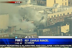 В Нью-Йорке в результате взрыва обрушилось здание