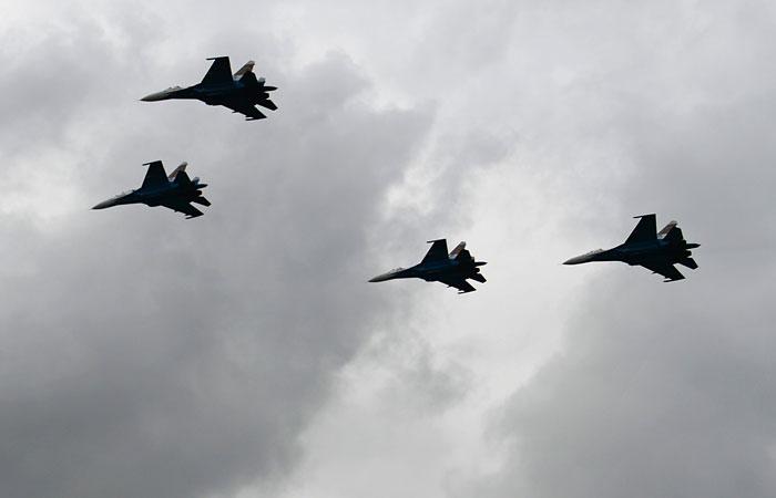"""Российские истребители передислоцированы на белорусский аэродром """"Бобруйск"""""""