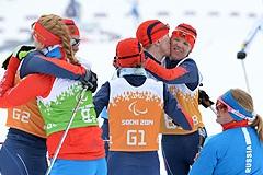 Российские лыжники выиграли смешанную и открытую эстафеты Паралимпиады