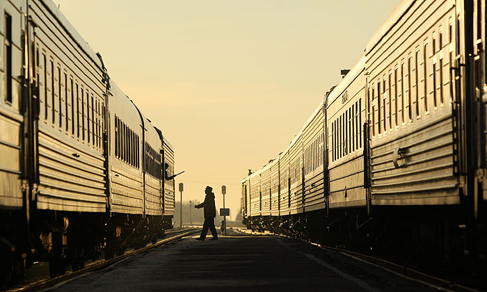 Люди в форме УПА ограбили россиян в поезде Москва - Кишинев