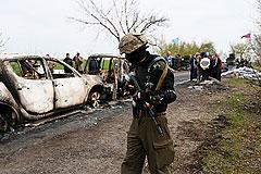 В Славянске на блокпосту произошла перестрелка