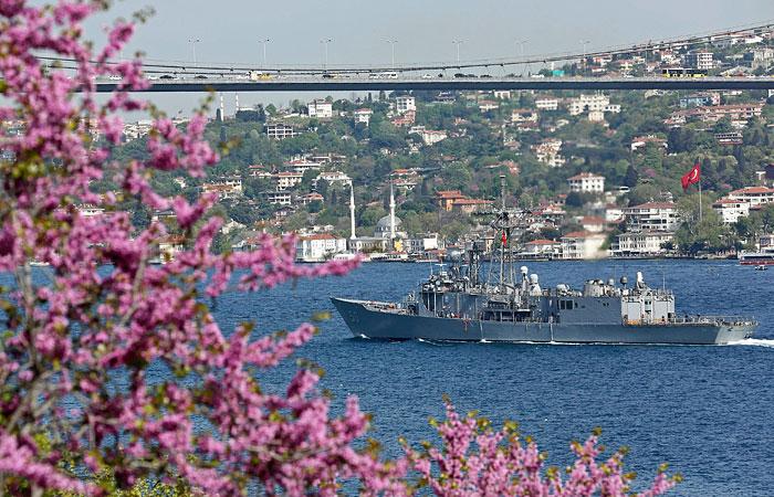Американский фрегат зашел в Черное море