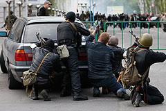 Протестующие в Луганске начали переговоры с милицией
