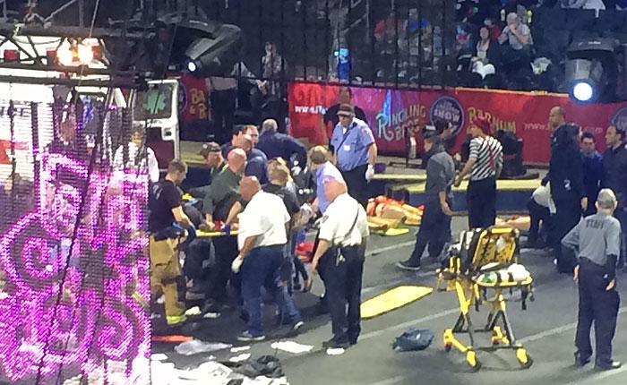 В американском цирке разбились воздушные акробаты