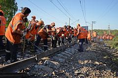 Движение поездов в районе аварии в Подмосковье восстановлено