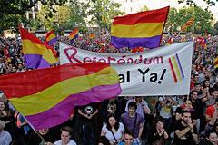 Десятки тысяч испанцев потребовали провести референдум о судьбе монархии