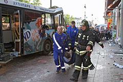 В ДТП с участием автобуса в Петербурге пострадали более 20 человек