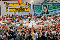 Забастовка работников метро парализовала Сан-Паулу перед началом ЧМ-2014