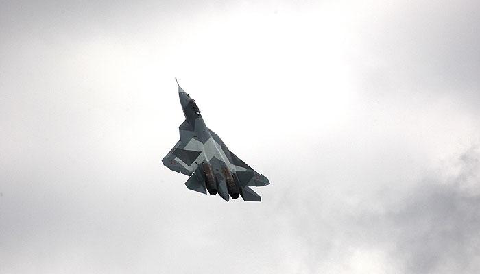 Истребитель пятого поколения загорелся при посадке в Жуковском