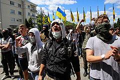 В Киеве на митинге потребовали отмены перемирия
