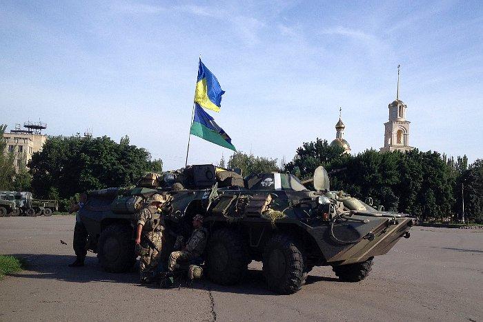 Украинские военные восстановили контроль над четырьмя городами Донбасса