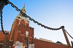 Спасскую башню Кремля открыли для прохода посетителей