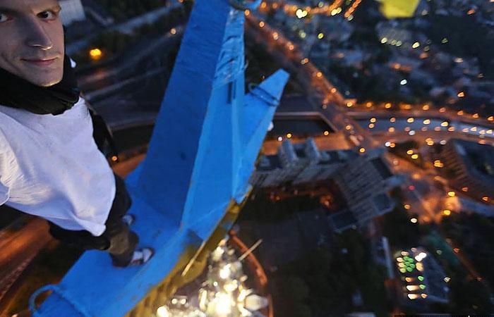 Украинский руфер взял на себя ответственность за покраску звезды московской высотки