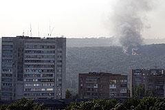 МВД Украины сообщило о взрыве базы ополченцев в Донецке