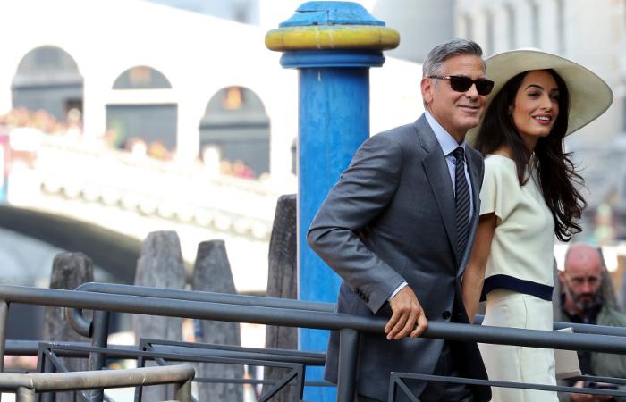 Появились фотографии свадьбы Джорджа Клуни