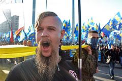 Националисты устроили беспорядки у здания Рады