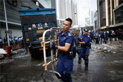 Полиция ликвидировала последний лагерь протестующих в материковой части Гонконга