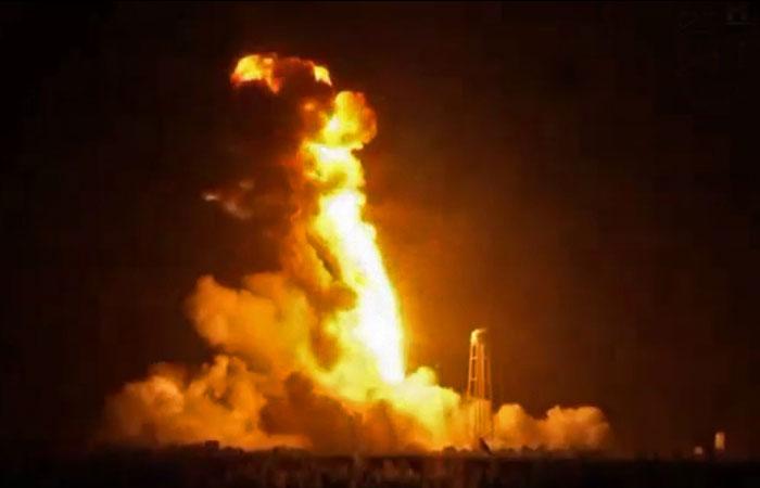 Взорвавшаяся ракета Antares была уничтожена по команде с земли