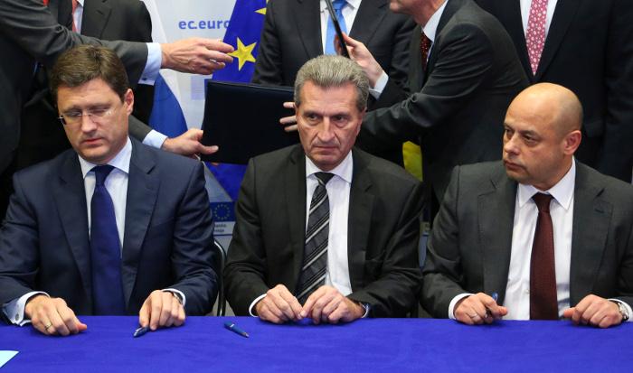Украина, Россия и ЕС подписали протокол о поставках газа до 2015 года