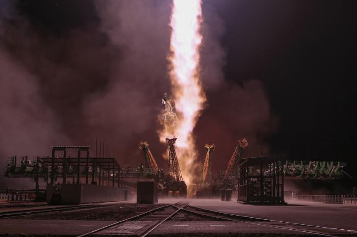 """С Плесецка стартовала ракета """"Союз"""" с новым навигационным спутником"""
