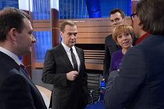 """На телеканале """"Россия 1"""" состоится прямой эфир с Дмитрием Медведевым"""