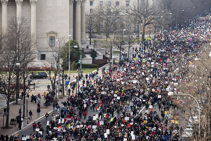 """Граждане США вышли на """"Марш миллионов"""" в поддержку убитых афроамериканцев"""