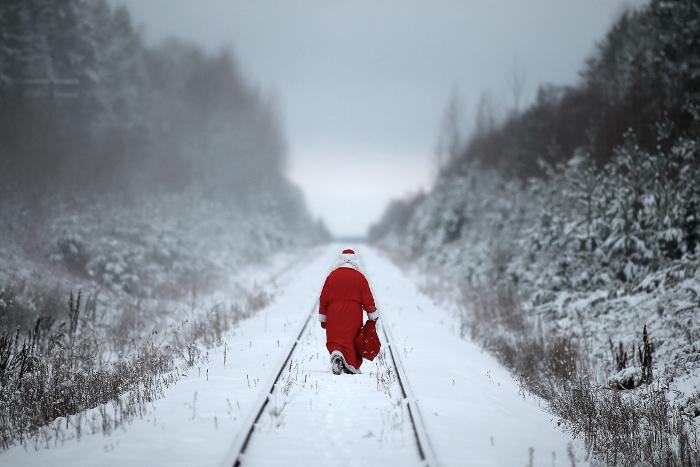 Картинки с новым годом 2013 железная дорога