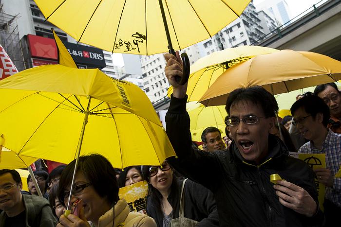 В Гонконге вновь прошли акции протеста