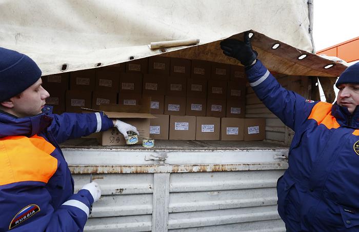 МЧС России доставило очередной гуманитарный груз в Донбасс