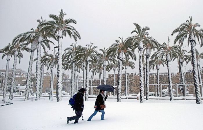 Снегопады накрыли Ближний Восток