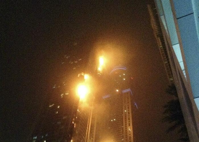 В Дубае потушили пожар в самом высоком жилом здании мира