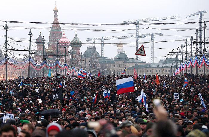 Полиция насчитала 21 тыс. человек на шествии в память о Немцове в Москве